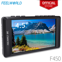 Feelworld F450 4.5 IPS 1280x800 HD 4K Camera Field Monitor with HDMI Input/Output 4K UHD Peaking Focus Check Field LCD Monitor