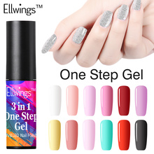 Ellwings 3 in 1 UV Gel Soak Off UV One Step Nail Gel Polish No Need Top Base Coat For Nails Art vernis semi permanent