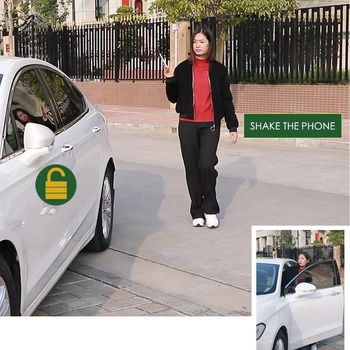 Smart phone sensor control car, hand lock comfortable access close to open the lock to leave the lock phone bluetooth connection