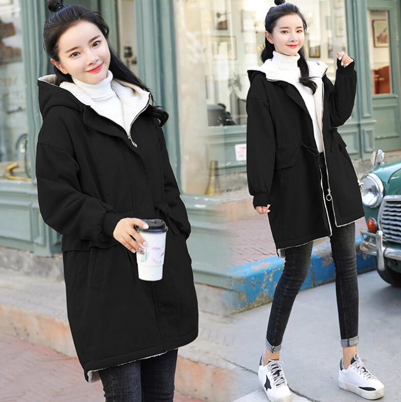 Autumn Winter Maternity Coat Maternity Clothing Lambs wool jacket trench Women Maternity loose outerwear clothes Pregnant coat new autumn and winter maternity outerwear women s clothing for pregnant thick loose coat pregnant s clothing plus size coat