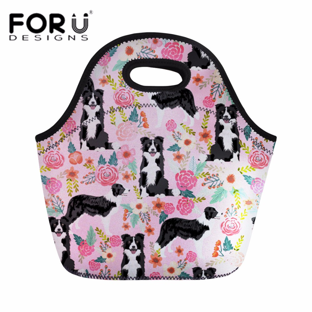 Forudesigns Corgi Pattern Lunch Bag For Kids 2018 Thermal Insulated Lunchbag For Children School Girls Lunchbox Food Picnic Bag Fashionable In Style;