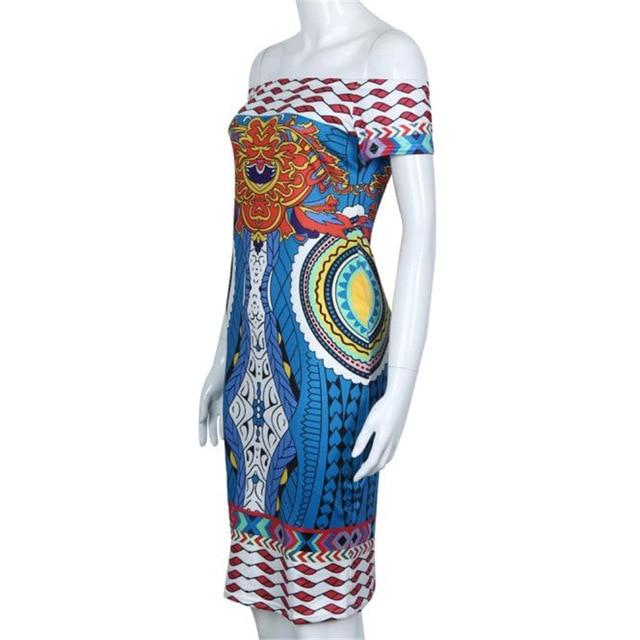 0b8a1c1602fd8 2017 Women Dress Summer Women Fashion Sexy Traditional African Headtie  Print Dashiki Slim Pretty Bodycon Short Sleeve Dress A0-in Dresses from  Women's ...