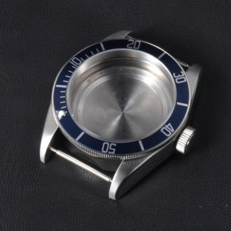 Pièces de montre, 41mm Corgeut bleu céramique Insert saphir verre boîtier de montre fit ETA 2824 2836 mouvement CA2010SLCA