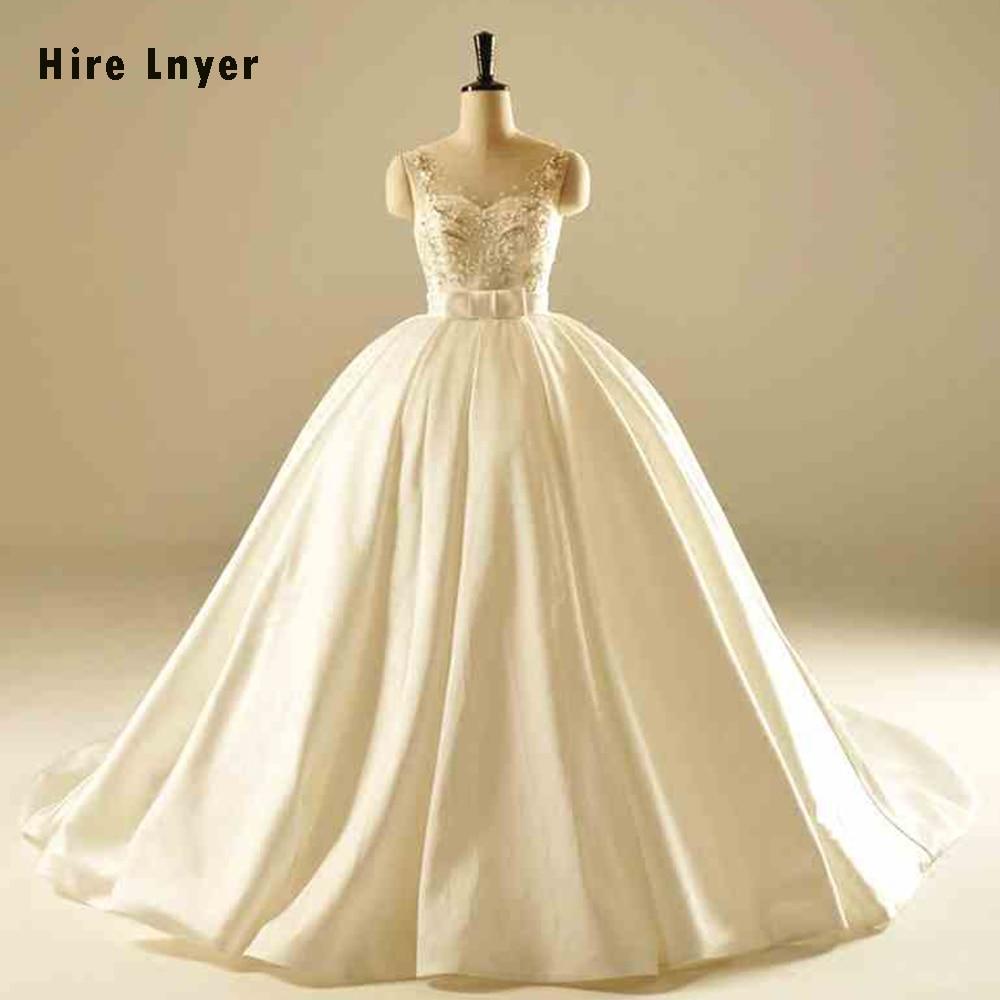 HIRE LNYER Robe De Mariee 2019 Shiny Beading Crystal