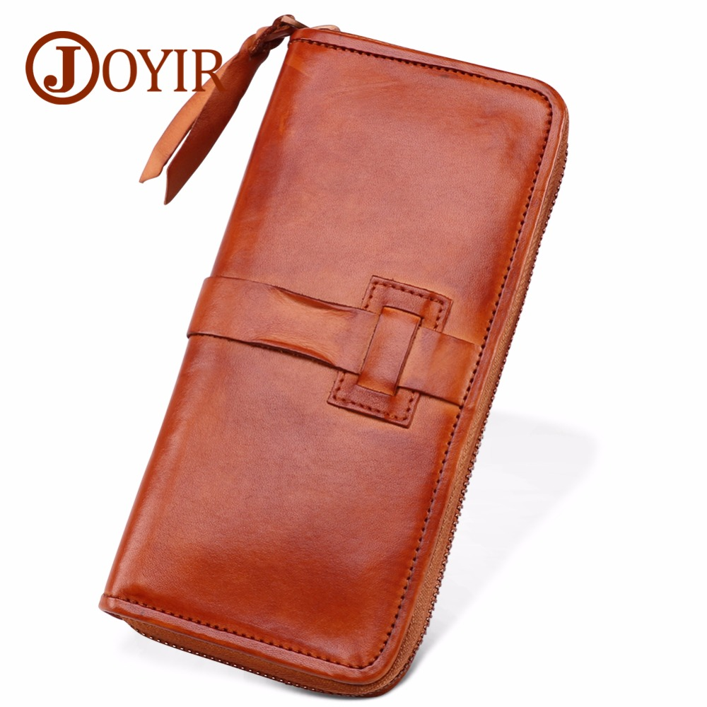 JOYIR Wallet Men Leather Genuine Wallet Men Leather Long Zipper Phone Wallet Luxury Clutch Bags Purse For Men Cartera Hombre 327 joyir men wallet genuine leather wallet luxury long clutch bags men leather walle purse business handy bag carteira masculina