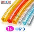 6 * 3 mm 1 metro línea de combustible / combustible Pipe para Gas motor / Nitro Engine amarillo / transparente / azul / rojo Color