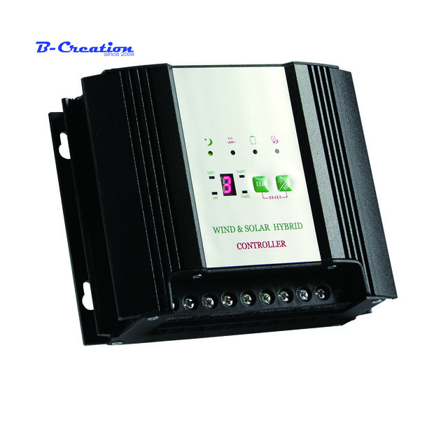 600w Wind/solar hybrid Battery charge controller with LED display. 12v/24v option, for 600w wind turbine+200w solar panel led display wind solar hybrid charge controller for 600w max wind generator and 12v 150w 24v 300w solar panel