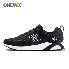 onemix men's running shoes colorful reflective vamp cool light breathable sport shoes for men sneakers for outdoor walking shoes
