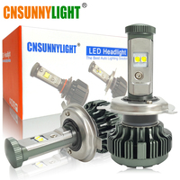 CNSUNNYLIGHT H4 H13 9008 9004 9007 XPL LED Car Headlight Bulbs Hi Lo Beam 8000LM 3000K