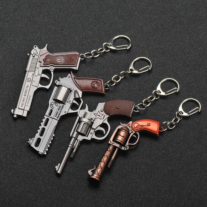 2019 חדש PUBG FPS משחק נגן לא ידוע Battlefield 3D מפתח שרשרת אקדח רכב אקדח לאכול עוף משחק רכב מפתח שרשרת עבור גברים ונשים