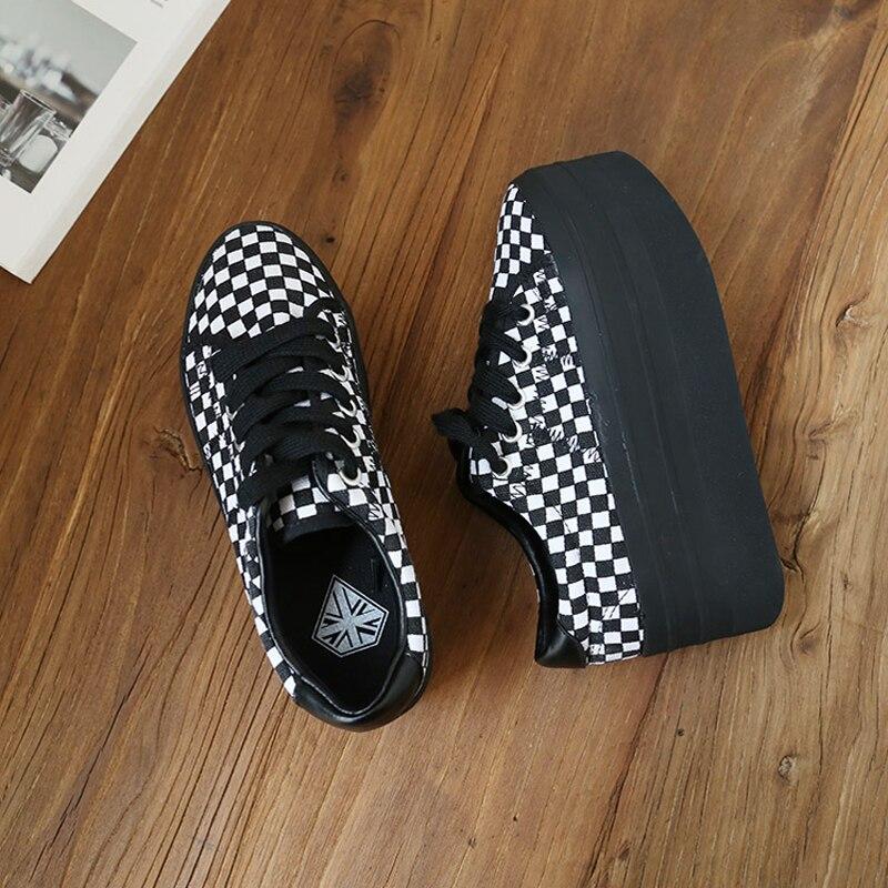 ผู้หญิงรองเท้าแฟชั่นสูง Creepers สีดำ Chunky รองเท้าคุณภาพสูงแพลตฟอร์มรองเท้า Harajuku รองเท้าคลาสสิก-ใน รองเท้าส้นสูงสตรี จาก รองเท้า บน   3