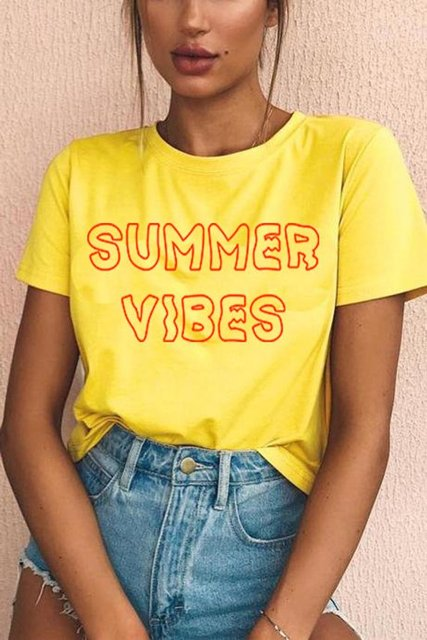 e1ef6b74c3c3 Sugarbaby Summer Vibes T-shirt Chick Outfit Teen Aesthetic Tumbrl Hipster  Grunge Tee 90'S Fashion Girls T shirt