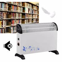 Warm Air Blower 2000W Low Noise Electric Air Heater Comfortable U Type Air Blowing Home Office