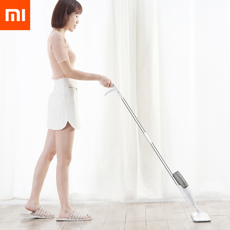 Xiaomi Mijia Smart Deerma Water Spray Mop 360 Rotating Cleaning Cloth Head Wooden Floor Ceramic Tile Mop Dry Cleaning Tools