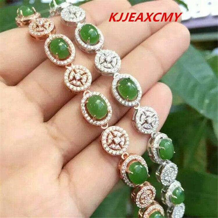 KJJEAXCMY bijoux fins bracelet en jade naturel, bijoux, vente en gros de femmes, S925, argent sterling, or et argentKJJEAXCMY bijoux fins bracelet en jade naturel, bijoux, vente en gros de femmes, S925, argent sterling, or et argent