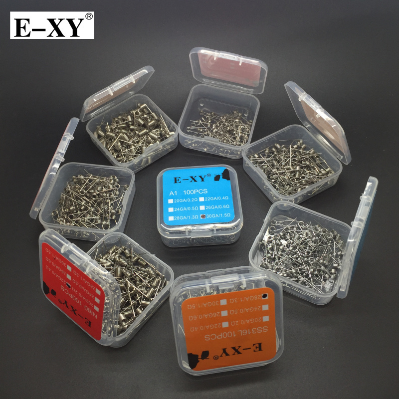 E-XY 100 قطعة / الحزمة a1 / ss316 / Ni80 لفائف - السجائر الإلكترونية