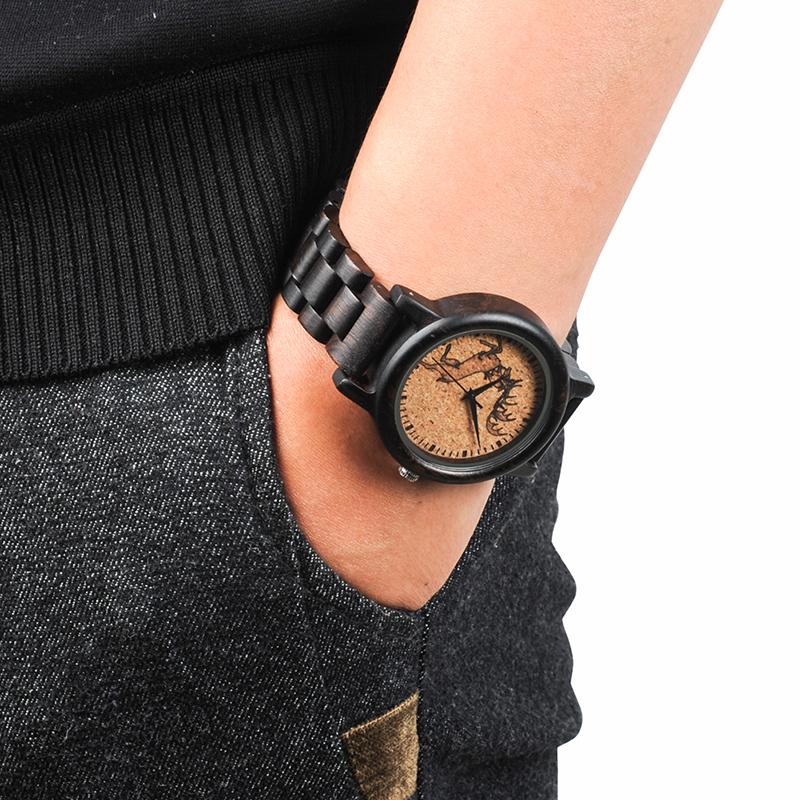 2017 New Arrival Fashion BOBO BIRD Watch Men Black Wood Wristwatches Wooden Strap Quartz Watch Gifts relogio feminino (23)