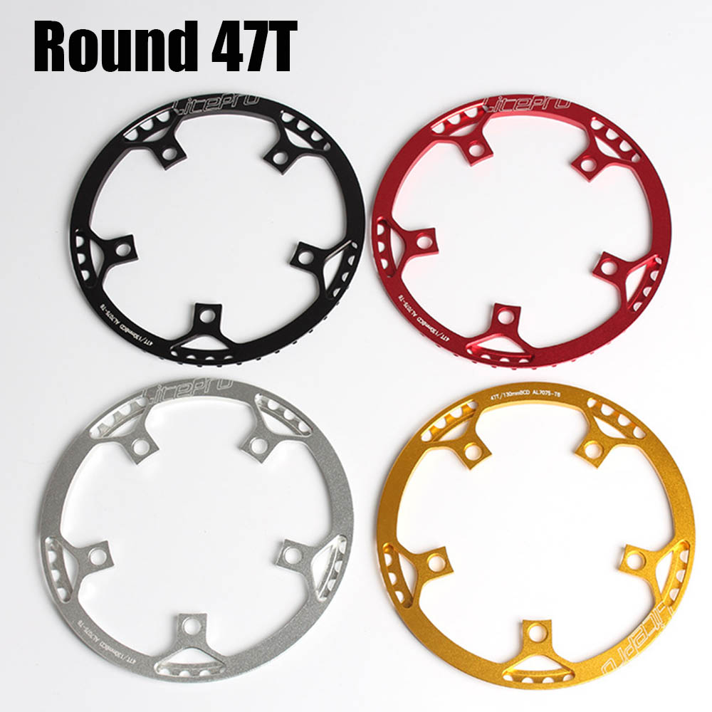 4 Colours BMX Chainring 130mm BCD Single speed ultralight 47T A7075 Alloy Folding Bicycle Chainwheel Bike Bicycle Component