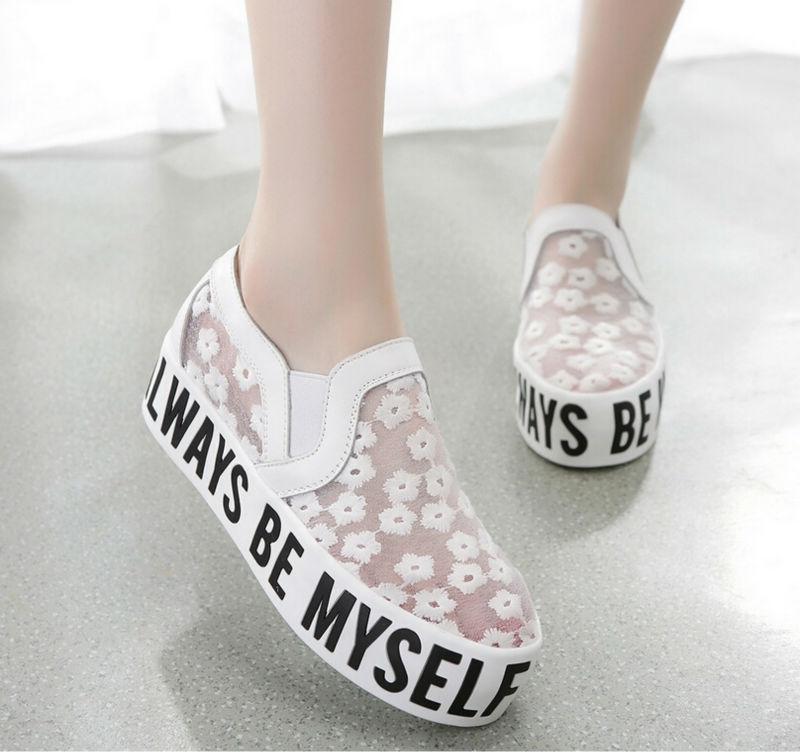 Estilo 2015 Mujer Nuevo De Del Verano Plataforma Zapatillas Malla q56Sx5fwT