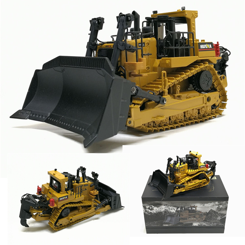 High Simulation 1 50 Caterpillar Crawler Bulldozer Model Alloy Diecast Engineering Track Car Metal Toys For