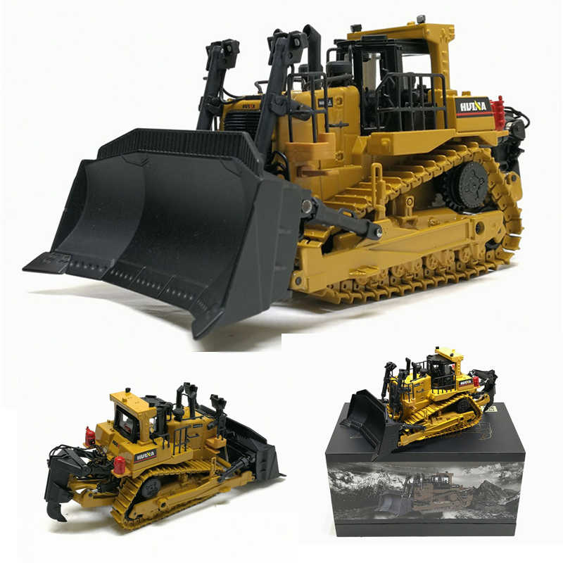 High Simulation 1:50 Caterpillar Crawler Bulldozer Model Alloy Diecast Engineering Track Car Metal Toys For Boys Kids