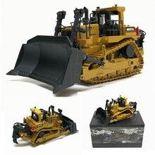 High Simulation 1:50 Caterpillar Crawler Bulldozer Model Alloy Diecast Engineering Track Car Metal Toys For Boys Kids