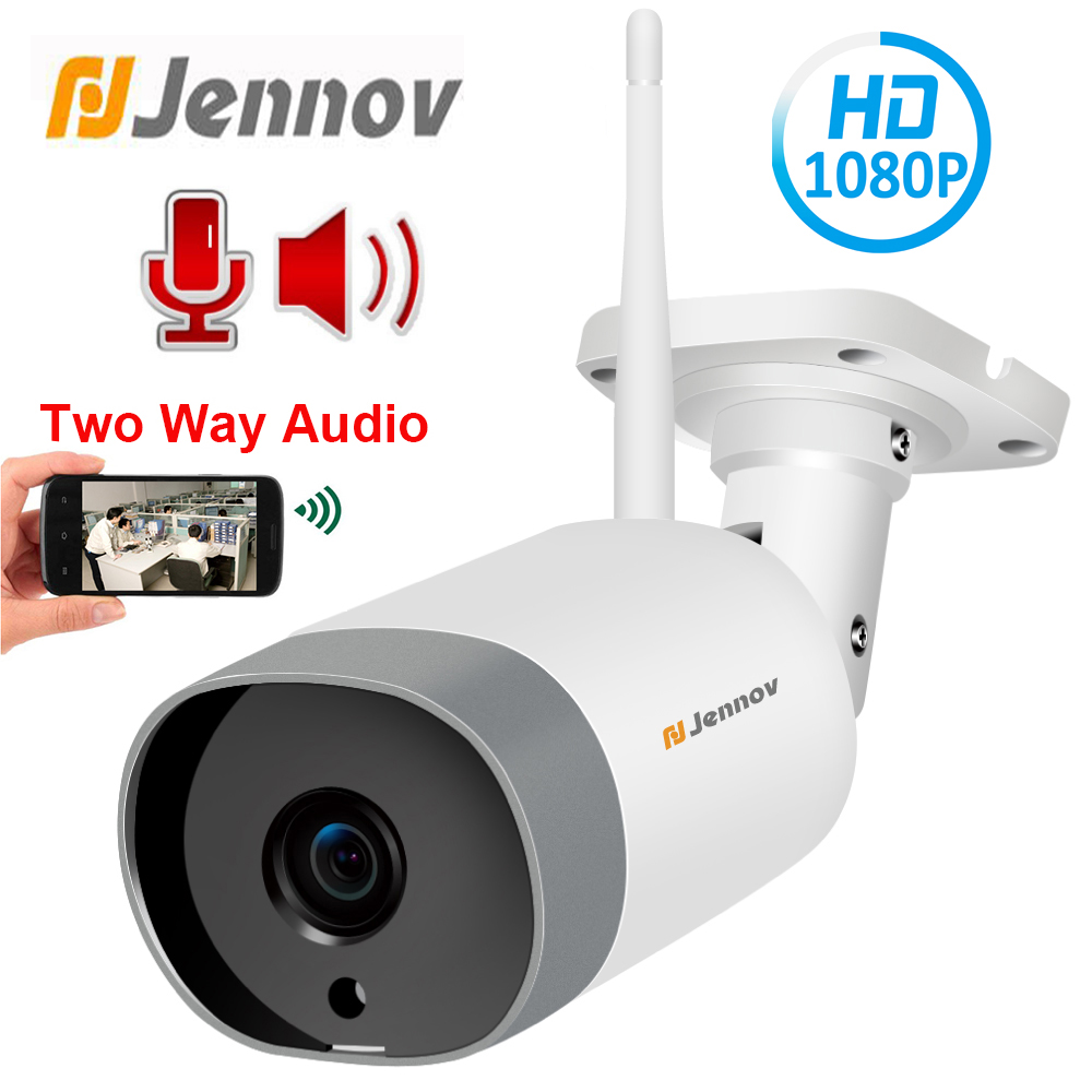 Jennov 1080P 2MP HD ONVIF Two Way Audio Outdoor IP Camera WiFi Home Security Wireless Camera