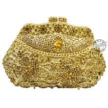 LaiSC Goldene Luxus kristall tag kupplungen bag handwerk strass abendtasche soiree sac pochette femme frauen party geldbörse SC118