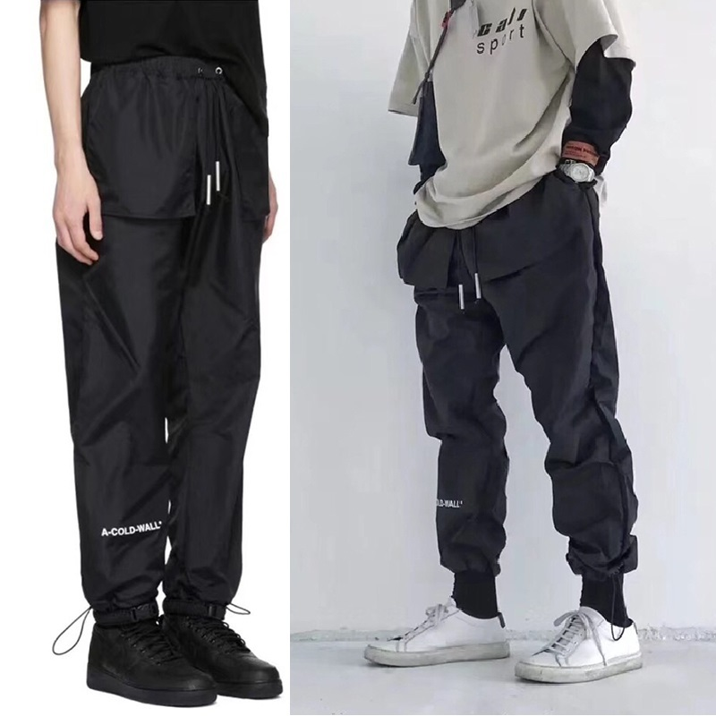 2019ss A COLD WALL ACW 1:1 Sweat Pants Men Streetwear Foot Strap Harajuku Trousers Track Joggers A COLD WALL Kanye West Pants
