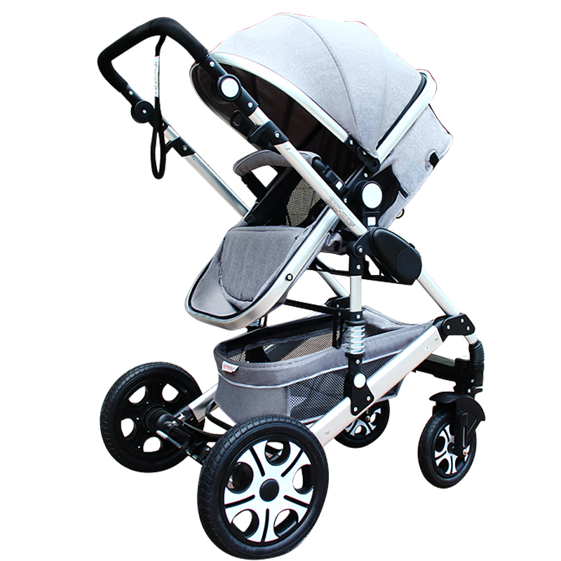 Baby Stroller 3 in 1 with Car Seat For Newborn ultra-lightweight baby trolley folding can sit lie umbrella Four seasons newborn baby stroller 3 in 1 portable folding strollers sit and lie four wheels 2017 convience prams umbrella stroller 0 3years