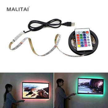 Taśma LED USB 2835SMD DC5V elastyczna taśma oświetlająca LED wstążka 1M 2M 3M 4M 5M telewizor HDTV ekran pulpitu podświetlenie oświetlenie tła tanie i dobre opinie MALITAI Sypialnia 50000 Zawsze na Taśmy 2 88 w m Epistar Warm white(2700K-3500K) Smd2835 ROHS RGB USB LED Strip light 60LEDs M