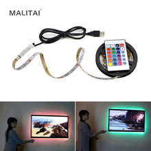 USB LED Strip lamp 2835SMD DC5V Flexible LED light Tape Ribbon 1M 2M 3M 4M 5M HDTV TV Desktop Screen Backlight Bias lighting cheap MALITAI bedroom 50000 Always On 2 88W m Epistar Warm white(2700K-3500K) SMD2835 ROHS RGB USB LED Strip light 60LEDs M