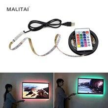 USB LED Strip lamp 2835SMD DC5V Flexible LED light Tape Ribbon 1M 2M 3M 4M 5M HDTV TV Desktop Screen Background Bias lighting