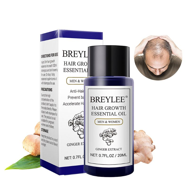 20ML Hair Growth Essential Oil Treatment Ginger Extract Anti Hair Loss Health Care Men Women Hair Care