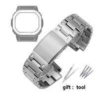 316L high quality stainless steel watchband for Casio G SHOCK metal strap case GW 5000 5035 M5610 DW5600 steel bracelet