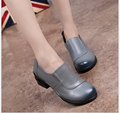 100% Genuine Leather Flat Shoes Woman Loafers 2016 New Fashion Women Casual Single Shoes Women Flats