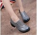 100% Zapatos de Mujer Mocasines Planos de Cuero Genuino 2016 Nuevas Mujeres de La Moda Solos Zapatos Casuales Las Mujeres Pisos