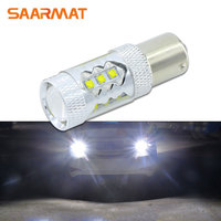 1Pcs 80W CREE Chips 1156 S25 P21W BA15S LED Bulbs Canbus Car Reverse Light Backup Parking