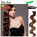 7a Brazilian virgin Human Tape Hair Extensions Body wave 40pcs/LOT 10inch-26inch #1 #1b #2 #4 #6 #8 #27 #613 in stock free ship