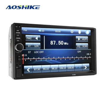 AOSHIKE Car 2 Din MP5 Display HD 7 Inch Touch Screen Dual Ingot Bluetooth FM USB Port TF Card Slot AUX Input View Aduio Radio