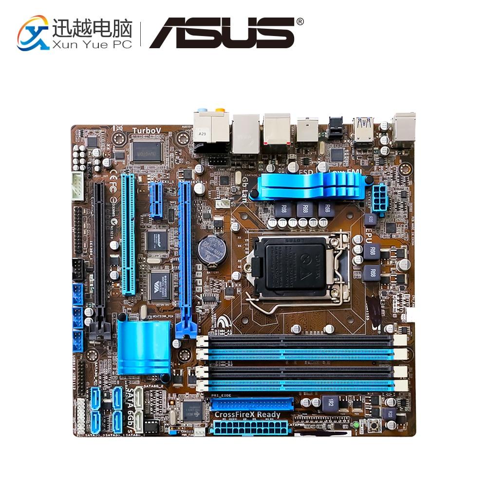 Asus P8P67-M Desktop Motherboard P67 Socket LGA 1155 i3 i5 i7 DDR3 32G SATA3 USB3.0 uATX asus p8p67 m desktop motherboard p67 socket lga 1155 i3 i5 i7 ddr3 32g sata3 usb3 0 uatx