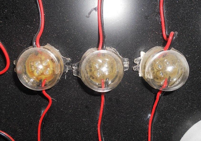 30mm diameter led module,4pcs 5mm led, DC12V input, 40pcs a string