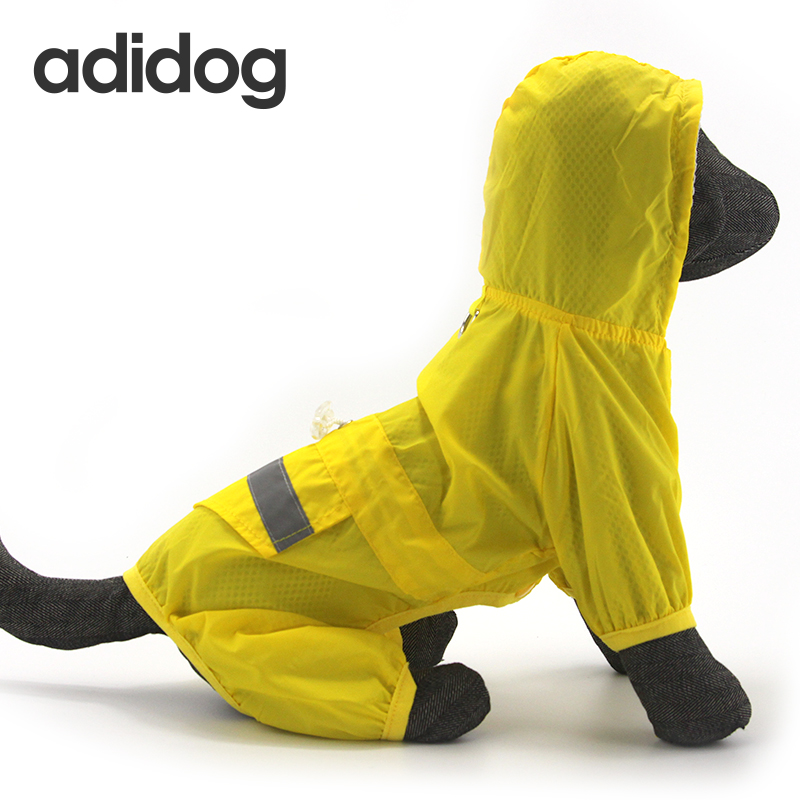 Dog Raincoat Waterproof Hooded Dog Clothes Rain Coat Cloak Camouflage For Small large Puppy Pet Rainy XS XXL with hood adidog