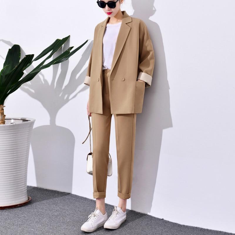 1 Impression Casual De Western Pantalon Mode Petit Femelle Dames Costume Nouveau 2018 Décoration Veste Polyester piece Deux E0wqWaS