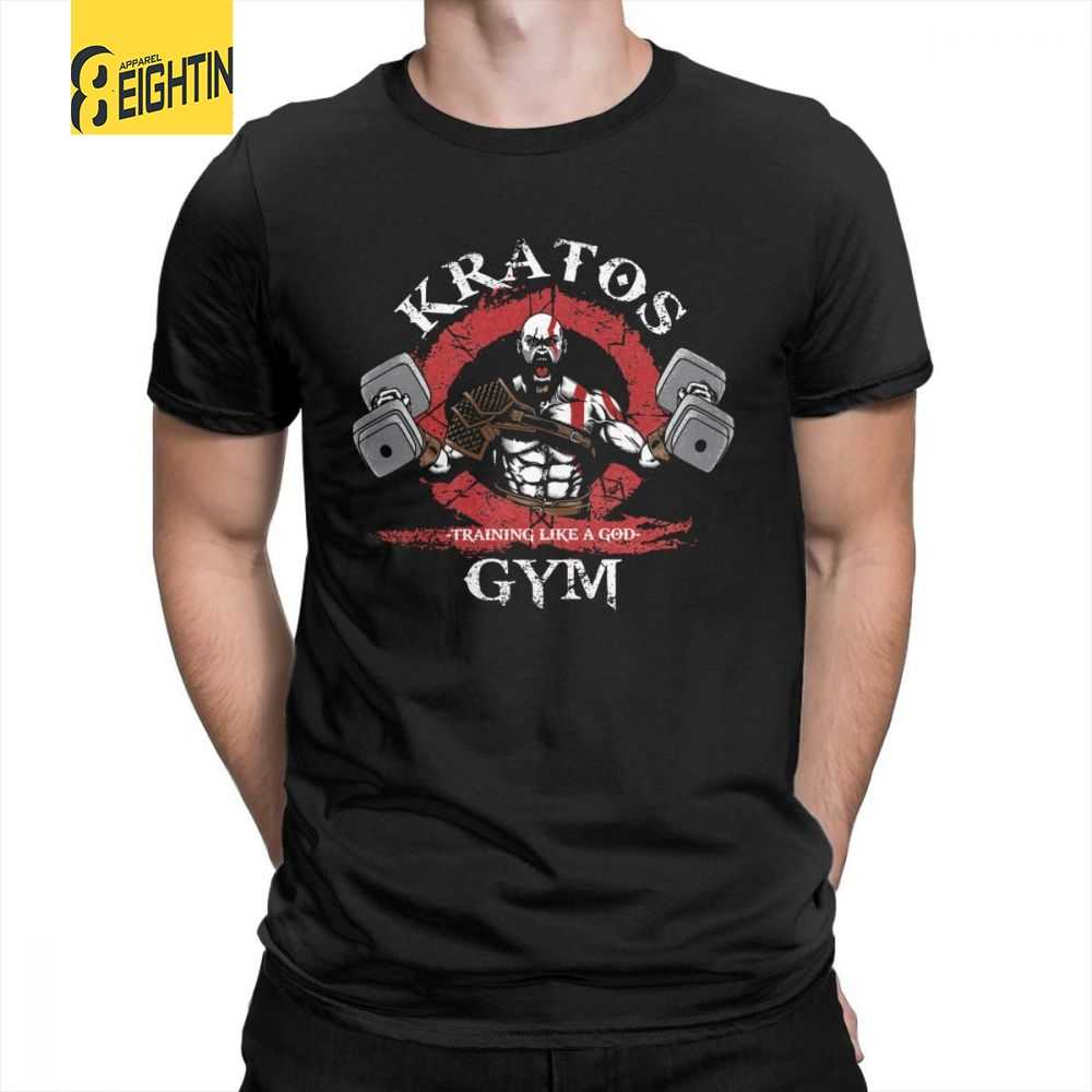 ce9365f9 God Of War Kratos Gym Man T Shirt Simple Style Purified Cotton Short Sleeve  Tee Shirt