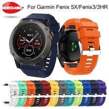 Silicagel Soft Quick Release Kit Band Strap For Garmin Fenix 5X GPS Smart Watch Fitness Bracelet Smart Accessories Replacement