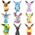 Новый Бесплатная доставка Pokemon Плюшевые Игрушки 20 см Umbreon Eevee Espeon Jolteon Вапореон Flareon Glaceon Leafeon Чучела Животных Игрушки Куклы