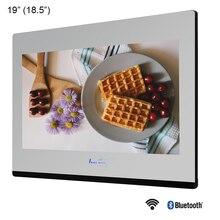 Souria 19 Bathroom Waterproof Smart Mirror Hidden LED TV Magic Glass Built in Wall Television SPA