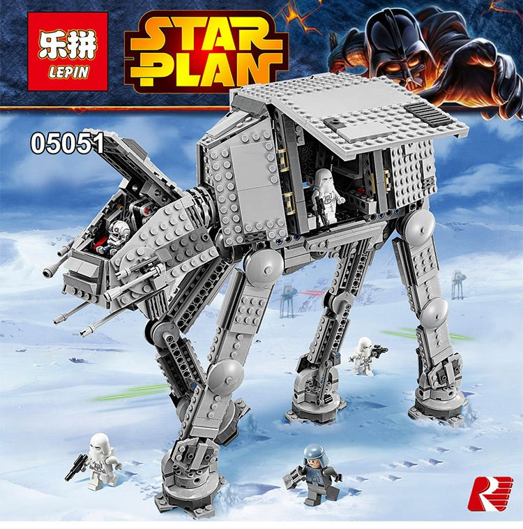 Lepin 05051 Star War Series Force Awaken The AT-AT Transpotation Armored Robot 75054 Building Blocks Bricks Educational Toys mon su 2pcs t10 19smd car 3030 led chip t10 168 194 2825 w5w led bulbs for parking position light or license plate lights 12v