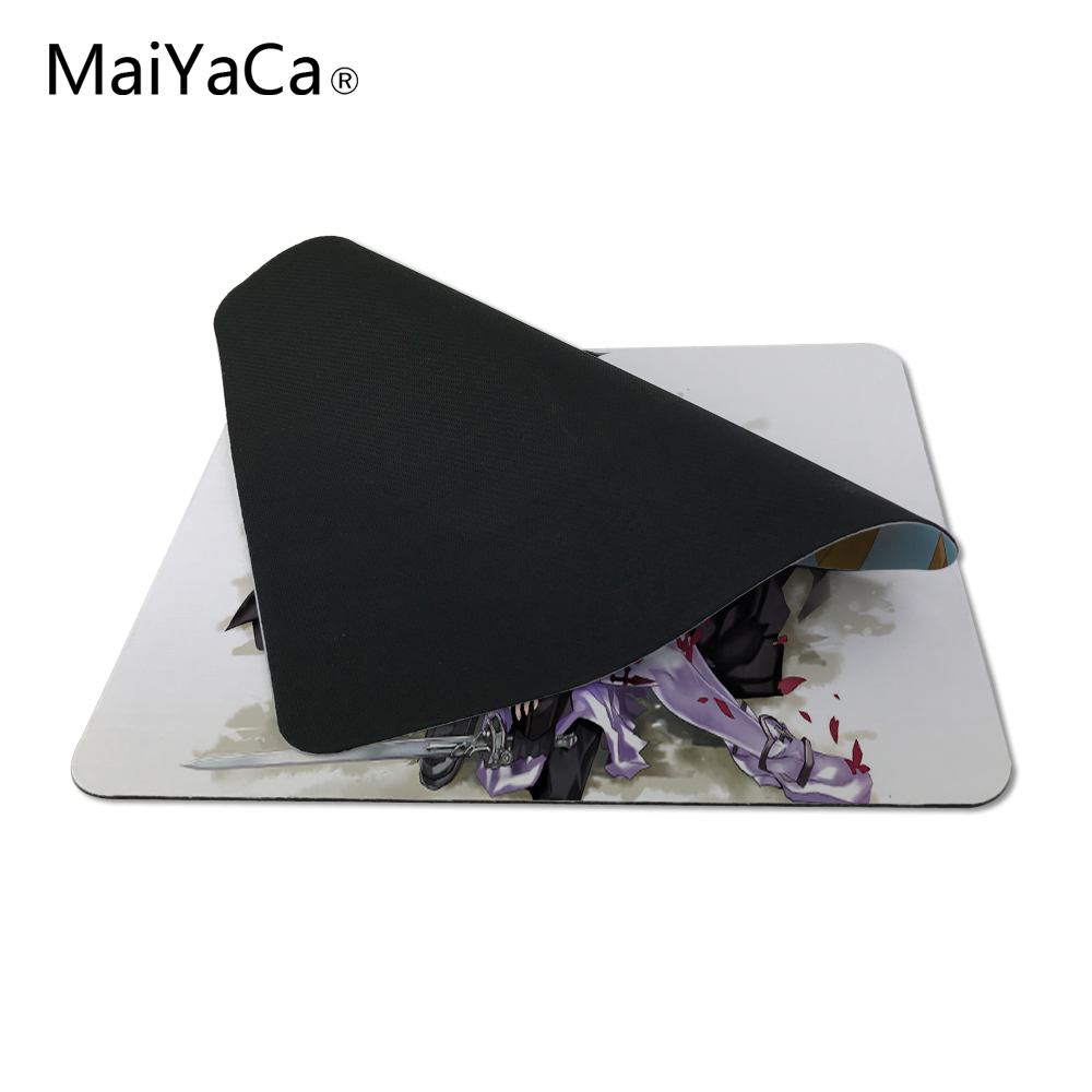 MaiYaCa sword art online sao Computer Mouse Pad Mousepads Decorate Your Desk Non-Skid Rubber Pad 220mmX180mm and 250mmx290mm